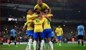 Brazili triumfon në miqësoren e luksit ndaj Uruguajit