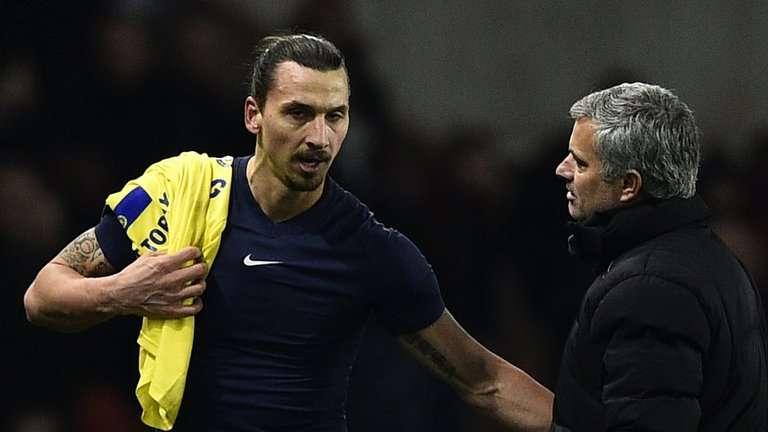 Image result for Jose Mourinho with Zlatan Ibrahimovic