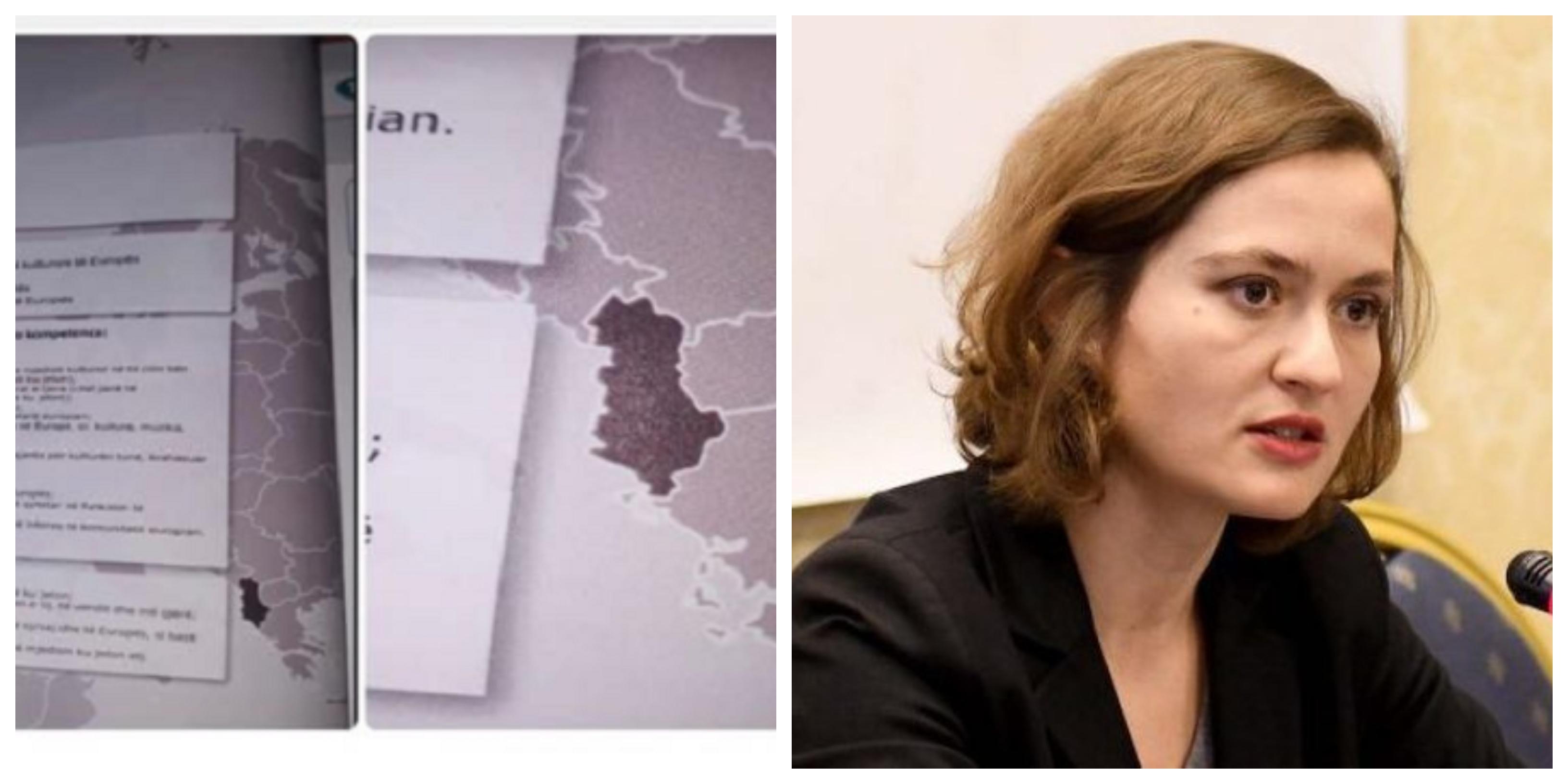 Skandali ku Kosova në libra paraqitet si pjesë e Serbisë  reagon ministrja e Arsimit në Shqipëri