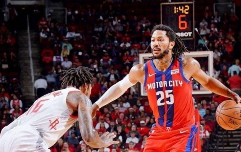 Derrick Rose dhe Pistons mposhtin Rockets përkundër 39 pikëve të Harden