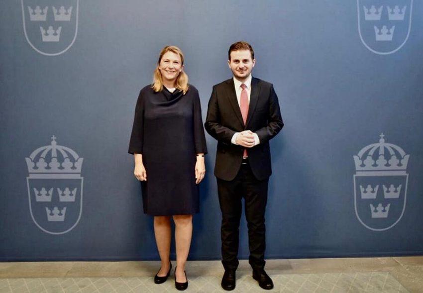 Cakaj takohet me Sekretaren e Shtetit në Kryeministrinë e Suedisë
